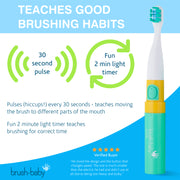 Go-Kidz Electric Travel Toothbrush - Teal