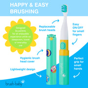 Brush-Baby Go-Kidz Electric Toothbrush - Teal