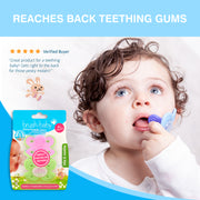 MolarMunch Teether (4+ months) Pink&Green Pack of 2 - BrushBaby