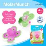 MolarMunch Teether (4+ months) - Pack of 2 Pink & Green