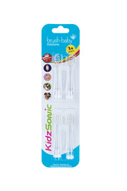 New! KidzSonic Replacement Brush Heads (3-6 years) Pack of 4