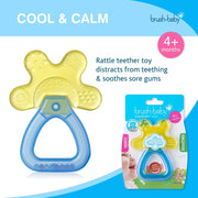 Cool&Calm Rattle Teether (4+ months) - Yellow & Blue