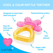Cool&Calm Rattle Teether (4+months) - Pink & Orange