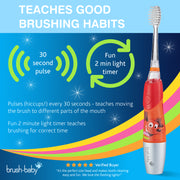 KidzSonic Electric Toothbrush (6+ Years) - Red - BrushBaby