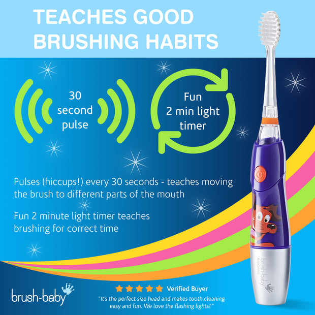 KidzSonic Electric Toothbrush (6+ Years) - Purple - BrushBaby