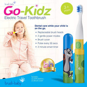 BrushBaby Go-Kidz Electric Toothbrush - Mikey - BrushBaby