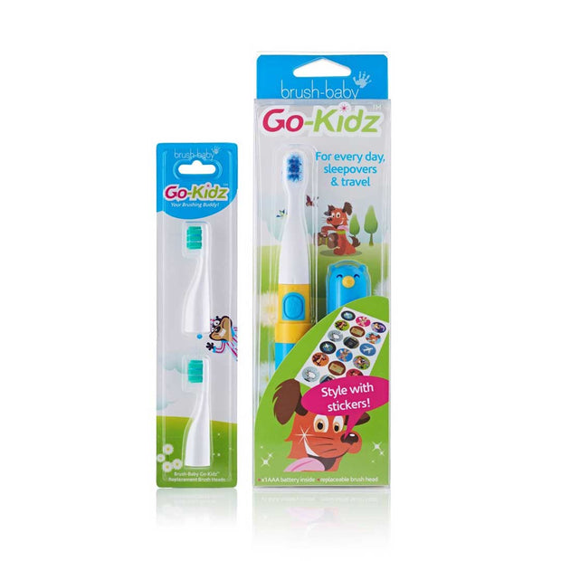 Brush-Baby Go-Kidz Electric Toothbrush - Blue - BrushBaby