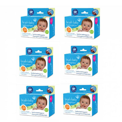 6 boxes of finger sleeve designed soothing Teething Wipes with Xyitol for baby tooth and gum care solutions