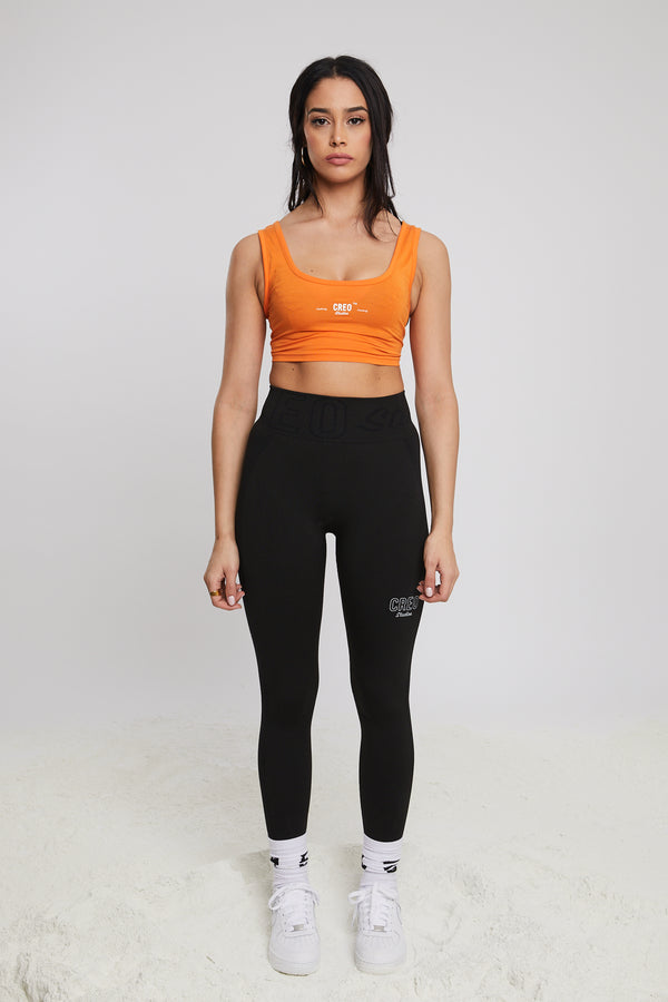 Women's Orange Space Bralet