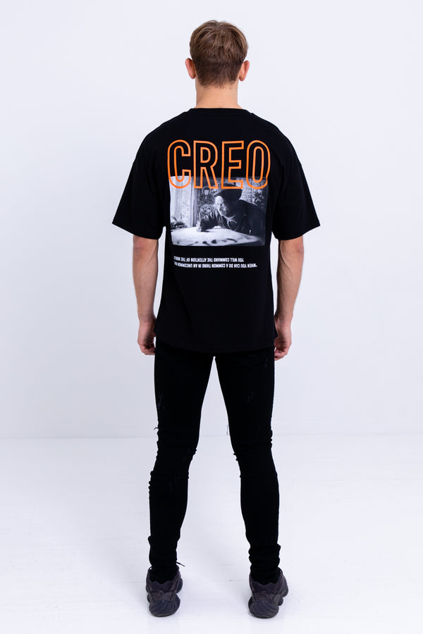 Wisdom Oversized T--Shirt Jet Black