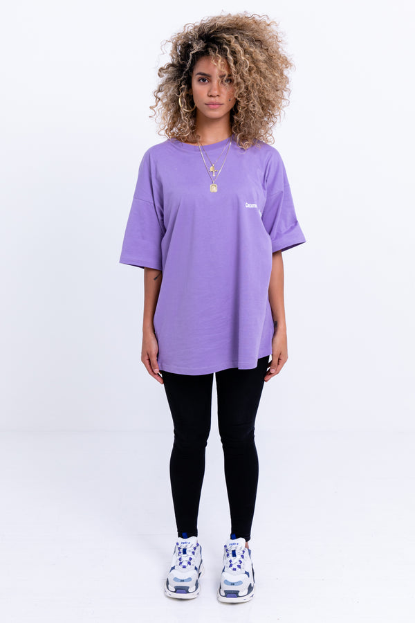 Artsy Oversized T--Shirt Purple Haze