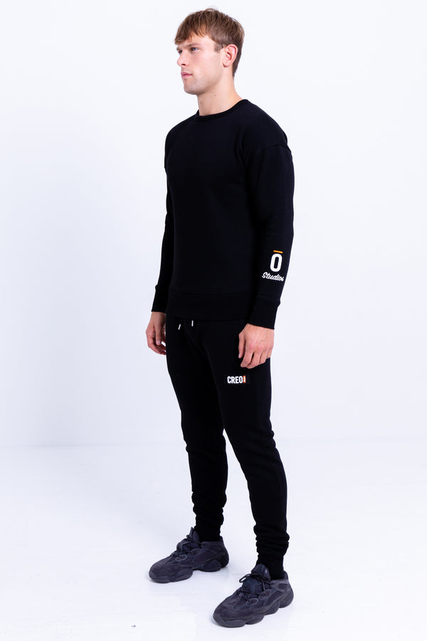 Crewneck Sweatshirt Jet Black