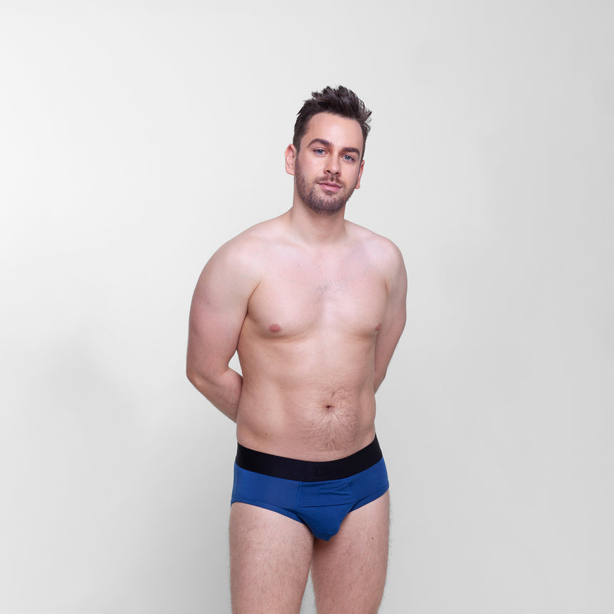 Back view of Livingwear mid rise modern briefs for men