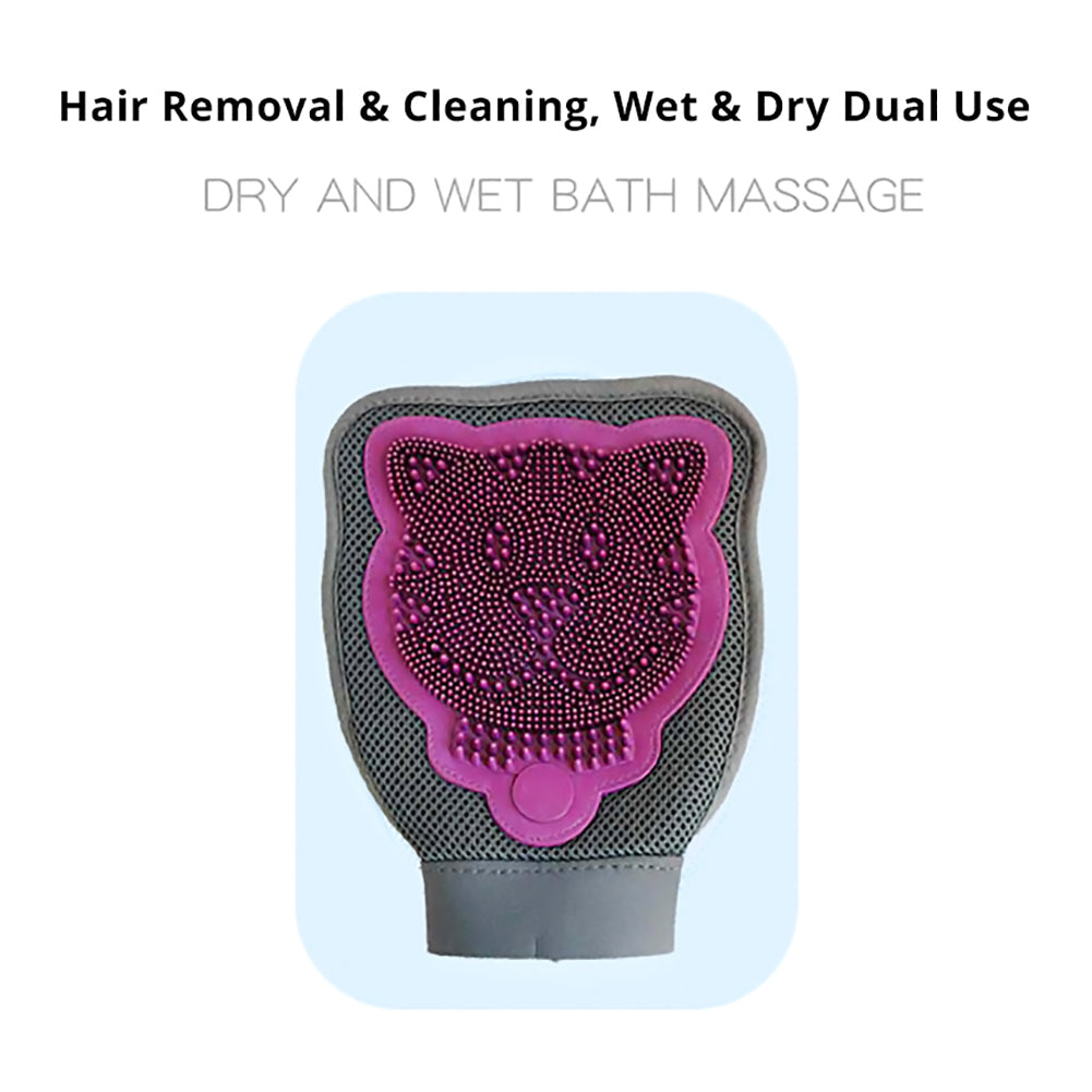 Double-sided Pet Dog Hair Remover Bath Cleaning