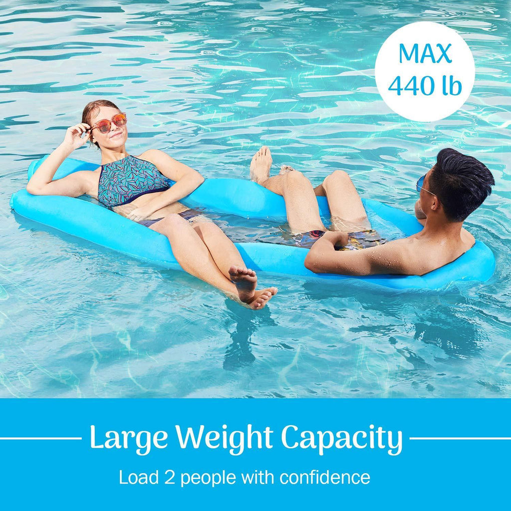Koznoy blue Inflatable Pool Floats Portable Floating Lounger Chair Water Hammock