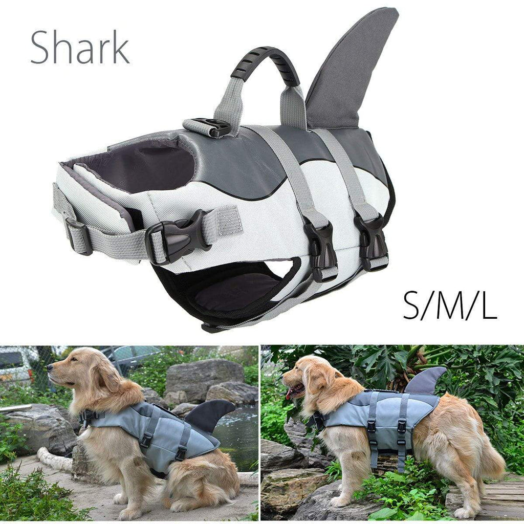 Koznoy Light Grey / S Shark Float Vest For Dog