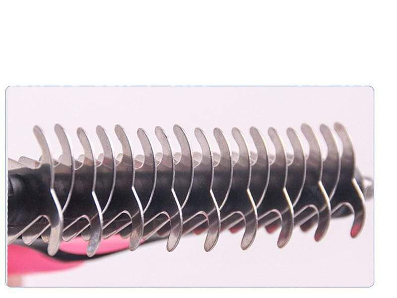 Koznoy Pink / 18x7.5 Fur Trimming Hair Removal Comb for Dogs Cat