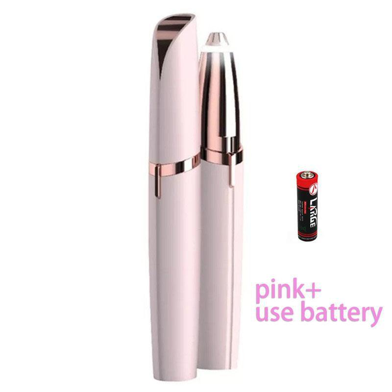 Koznoy pink / battery Women's lipstick shape eyebrow trimmer electric shaver flawless brows