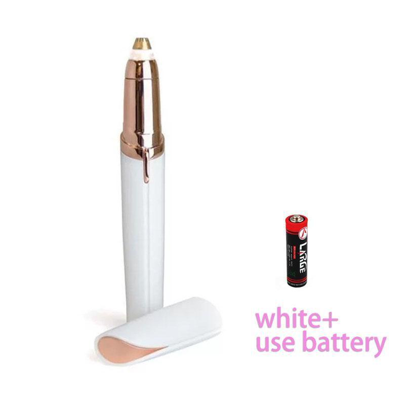 Koznoy white / battery Women's lipstick shape eyebrow trimmer electric shaver flawless brows