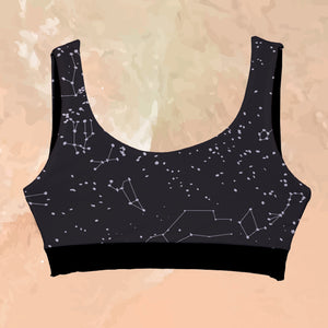 Top Reversible Night Sky - Kinibe Trajes de Baño