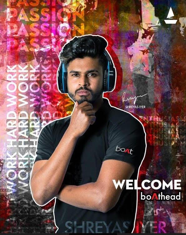 Cricketer Shreyas Iyer new face of audio brand boAt