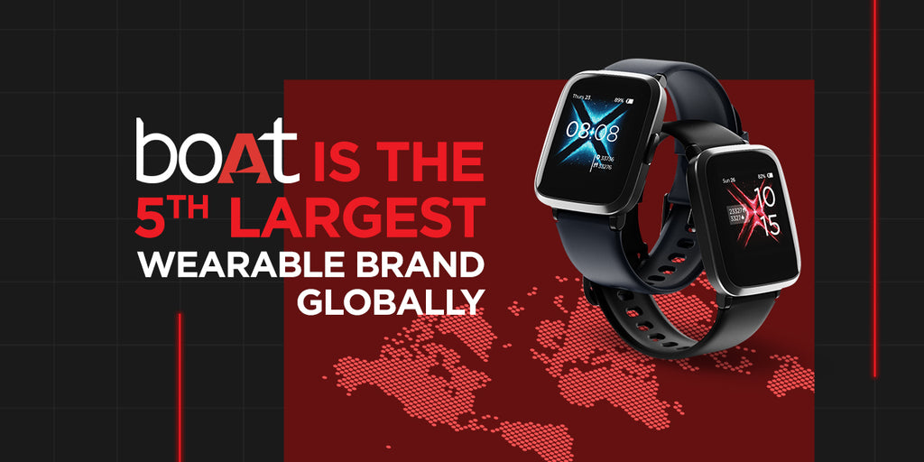 boAt Creates History; Becomes 5th Biggest Wearable Brand in the World