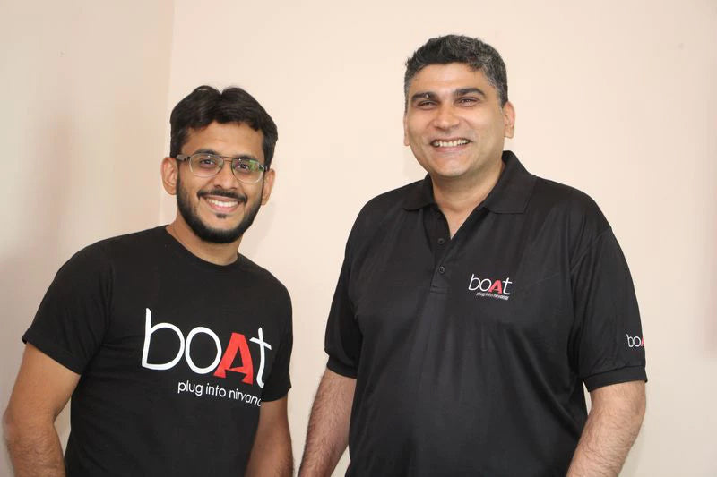Aman Gupta (left) and Sameer Mehta, Co-Founders, boAt