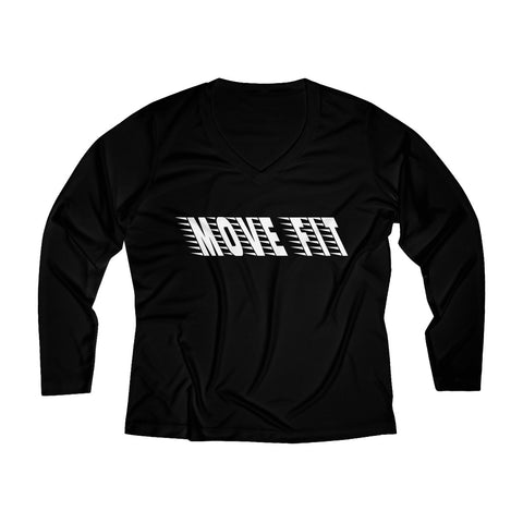 Women's Long Sleeve Performance V-neck Shirt