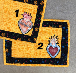 Quilted Sacred Heart  Placemat