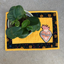Load image into Gallery viewer, Quilted Sacred Heart  Placemat