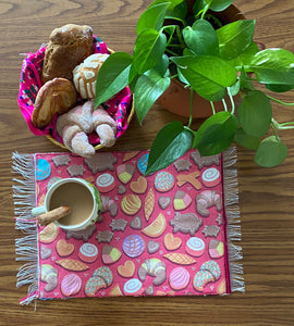 Placemat Sarape Reversible Tapete- Pan Dulce