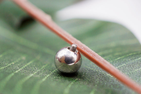 Polished Threaded Bead