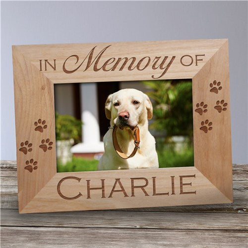 Personalized In Memory of Pet Wooden Picture Frame