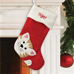 Embroidered Cat Stocking