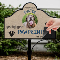 Personalized You Left Paw Prints In Our Hearts Magnetic Sign Set