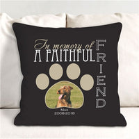 Personalized Faithful Friend Memorial Photo Throw Pillow