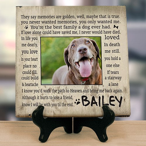 Til' the End Dog Memorial Wall Canvas