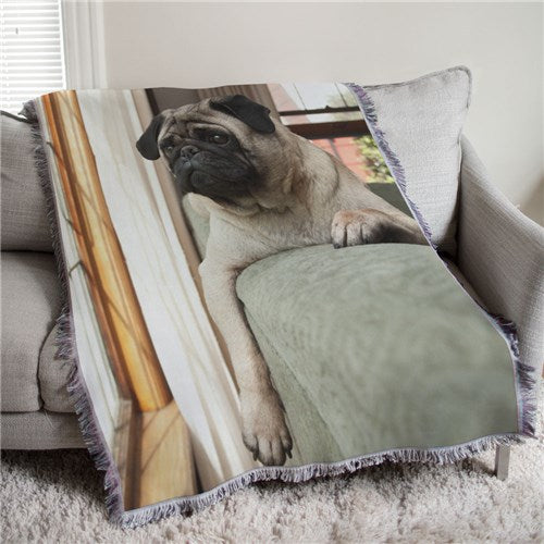 Personalized Pet Photo Tapestry Throw