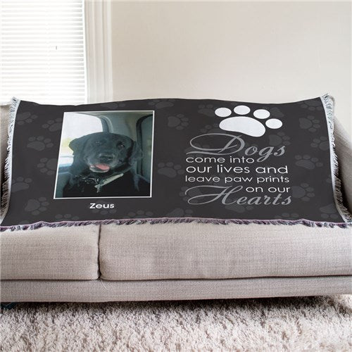 Personalized Pet Memorial Tapestry Throw