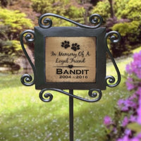 Personalized Loyal Friend Garden Stake