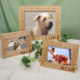 Engraved Til' the End Pet Memorial Frame