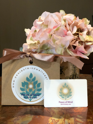 Peace of Mind Skin & Body Care Gift Card