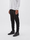 bassike slim tapered track pant ll in black