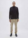 bassike 260 boxy sweat in black