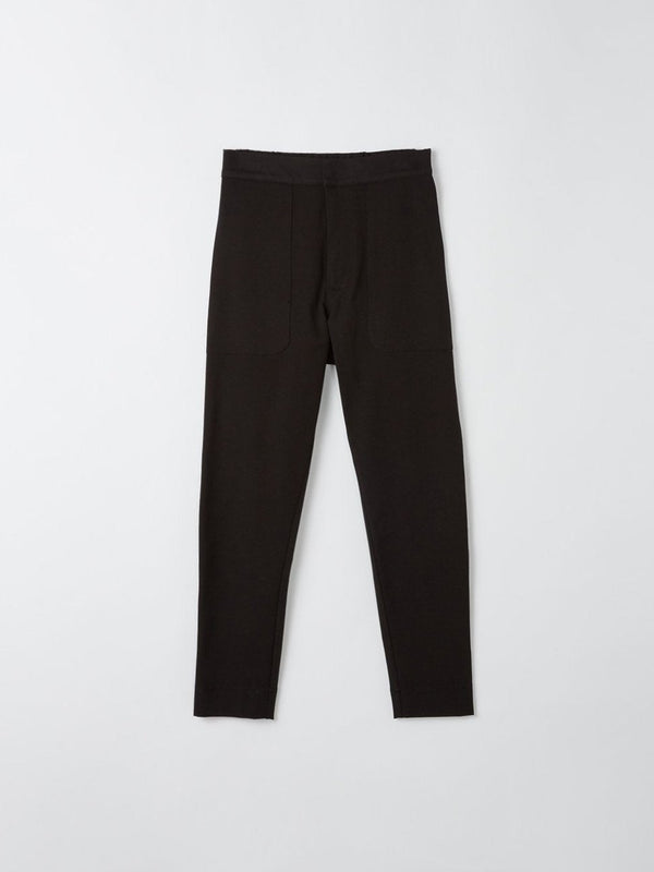 bassike twill utility pant in black