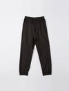 bassike utility cotton jersey pant in black