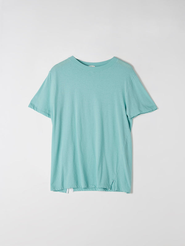 bassike classic vintage t.shirt in light teal
