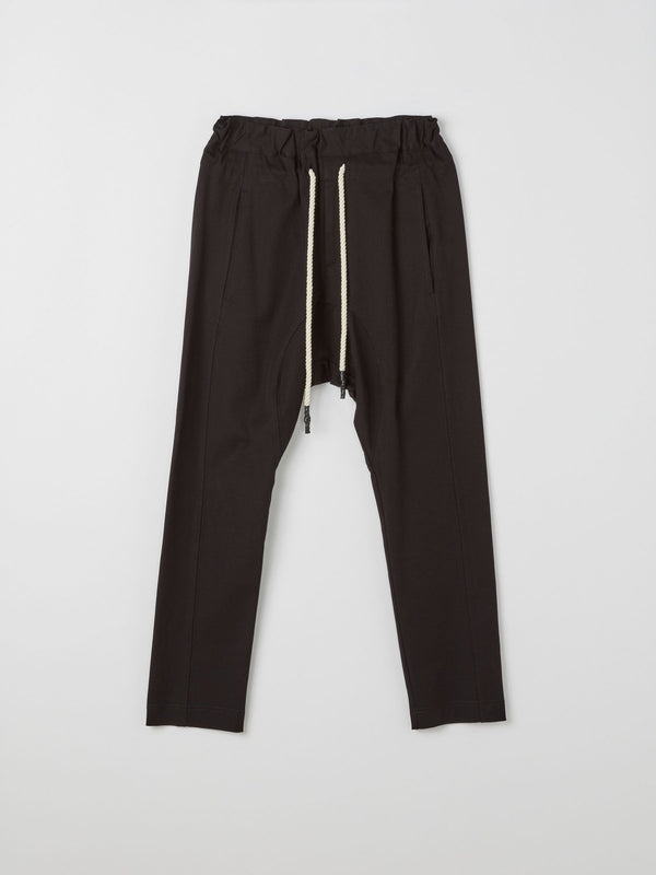 bassike stretch relaxed pant ll in black