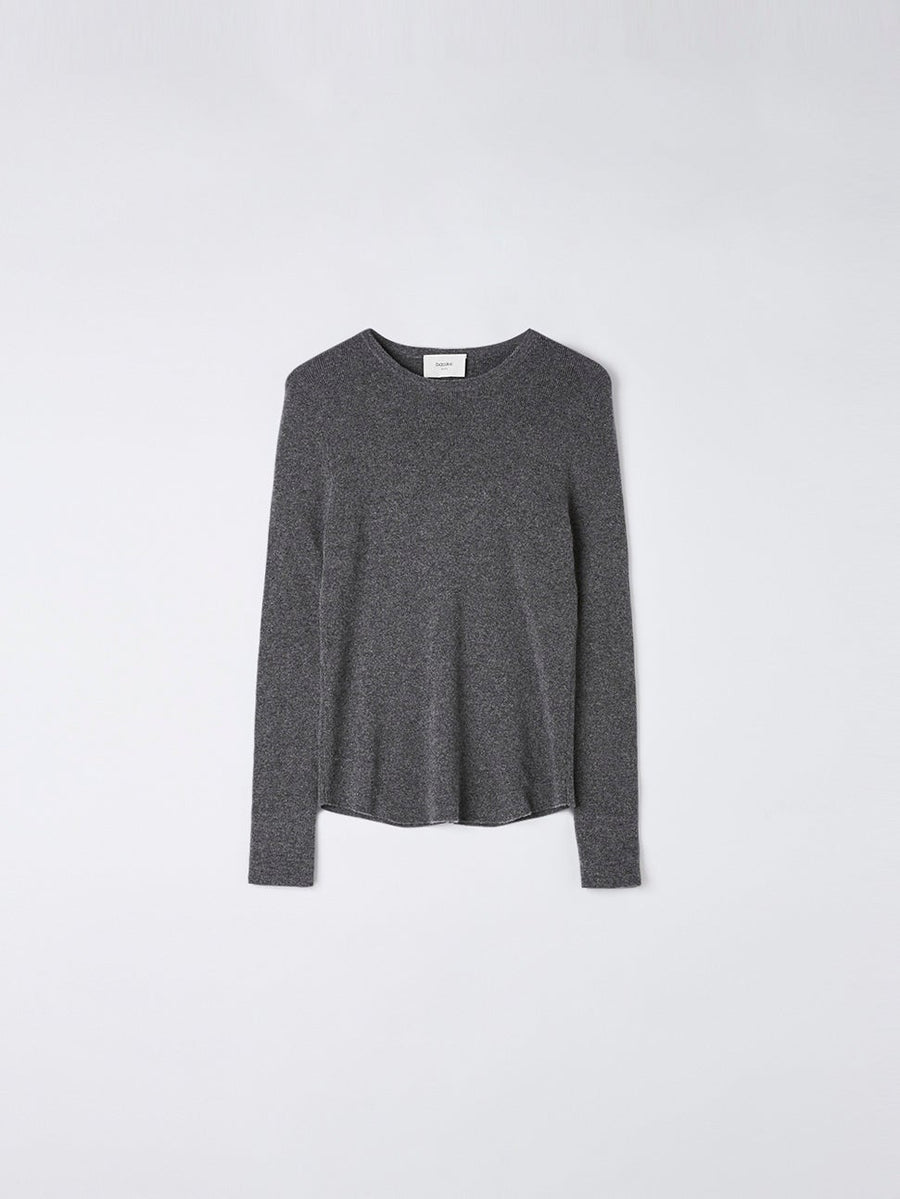 fitted cashmere layering knit