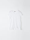 bassike fitted cap sleeve t.shirt in white